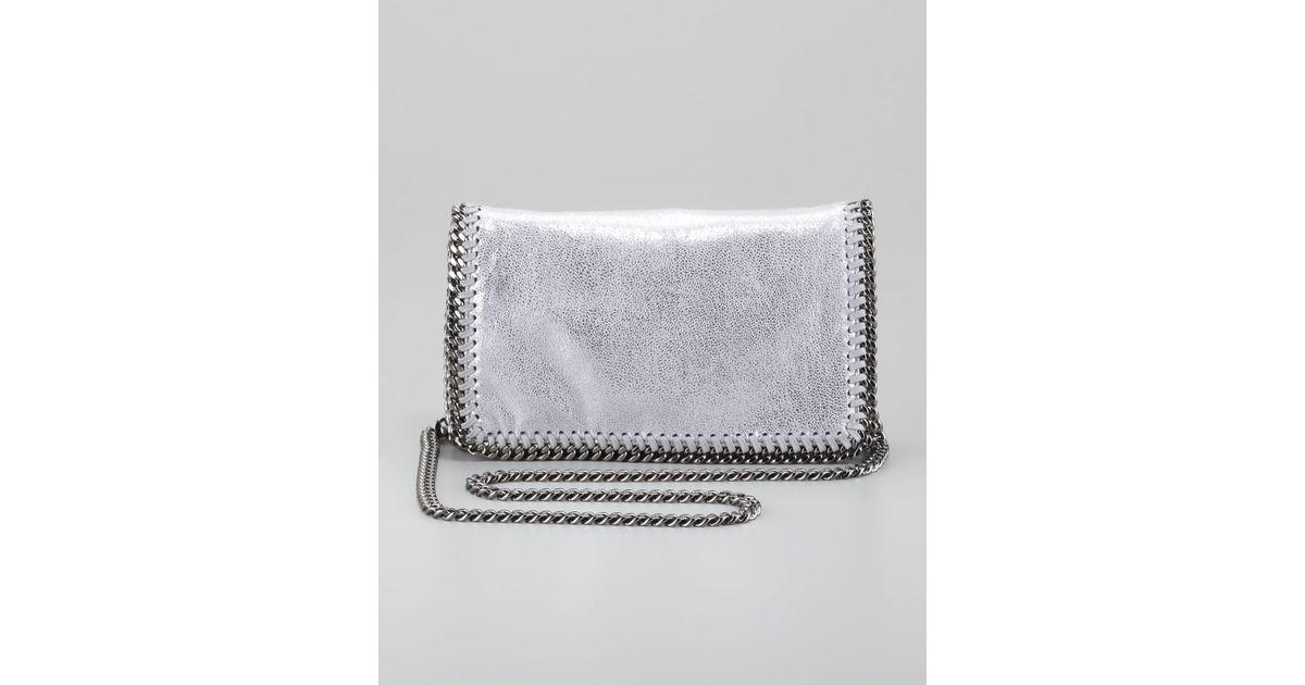 c2f75b6767 Lyst - Stella McCartney Falabella Crossbody Bag Silver in Gray