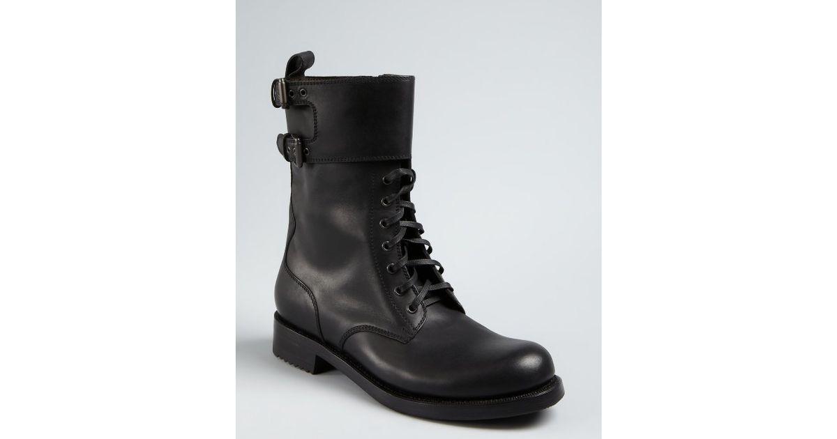 Bottega Veneta Leather Buckled Boots TIg1sIf
