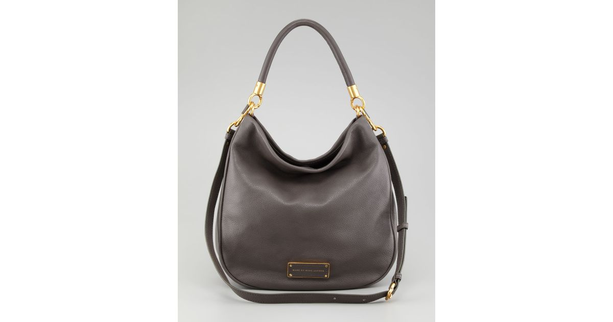 853ed0af99ea Lyst - Marc By Marc Jacobs Too Hot To Handle Hobo Bag Faded Aluminum in  Brown