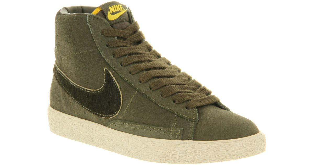 Nike Blazer Hi Suede Vintage Cargo Khaki Speed Excl In Green For Men (khaki) | Lyst