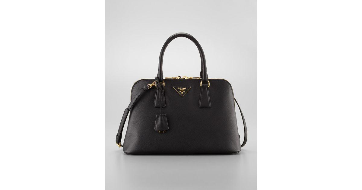 7176f4fe18cc Prada Saffiano Promenade Handbag Nero in Black - Lyst