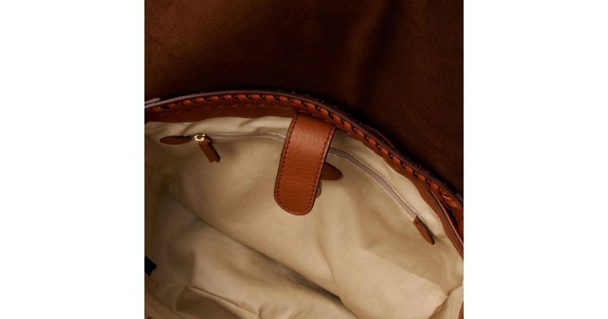 a16b62ac73 52b19 7c434  best price mulberry effie spongy pebbled leather satchel in  brown lyst 908a0 310e7