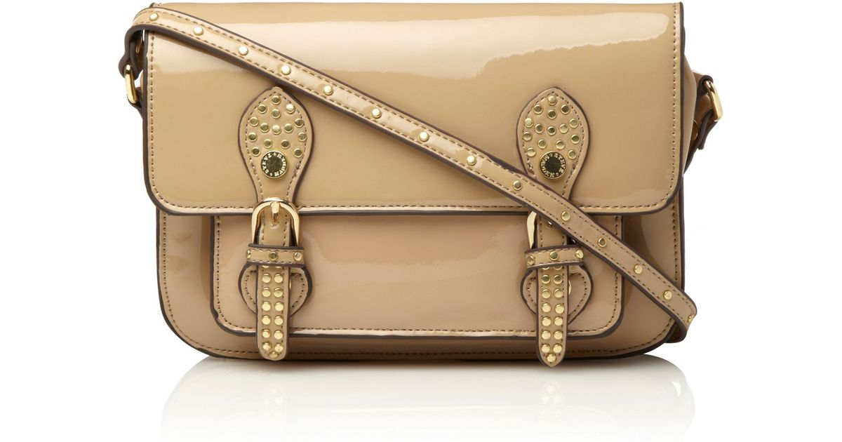 Chloé Ring-handle Leather Crossbody Bag in Blush Nude