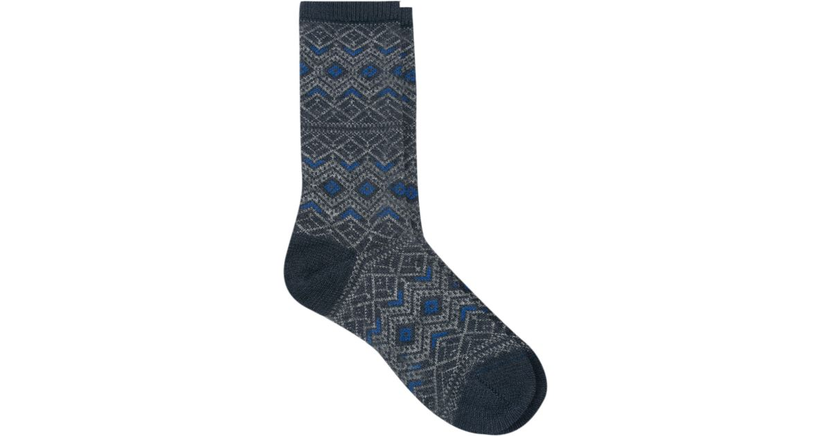 Falke Fair Isle Socks in Blue   Lyst
