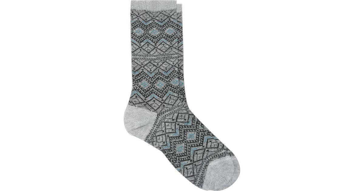 Falke Fair Isle Socks in Gray   Lyst