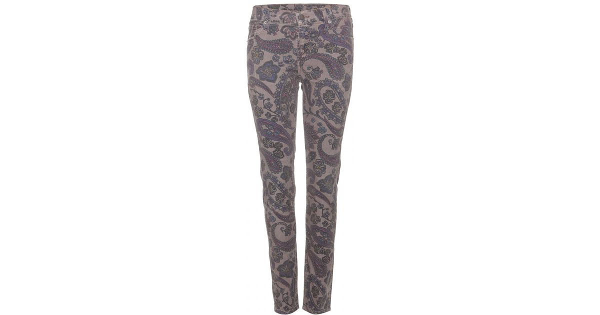 Citizens of humanity Thompson Print Corduroy Trousers in Gray | Lyst