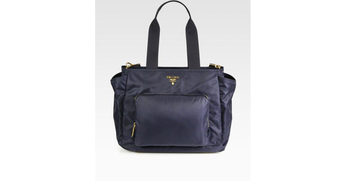 Prada Nylon Baby Bag in Blue | Lyst