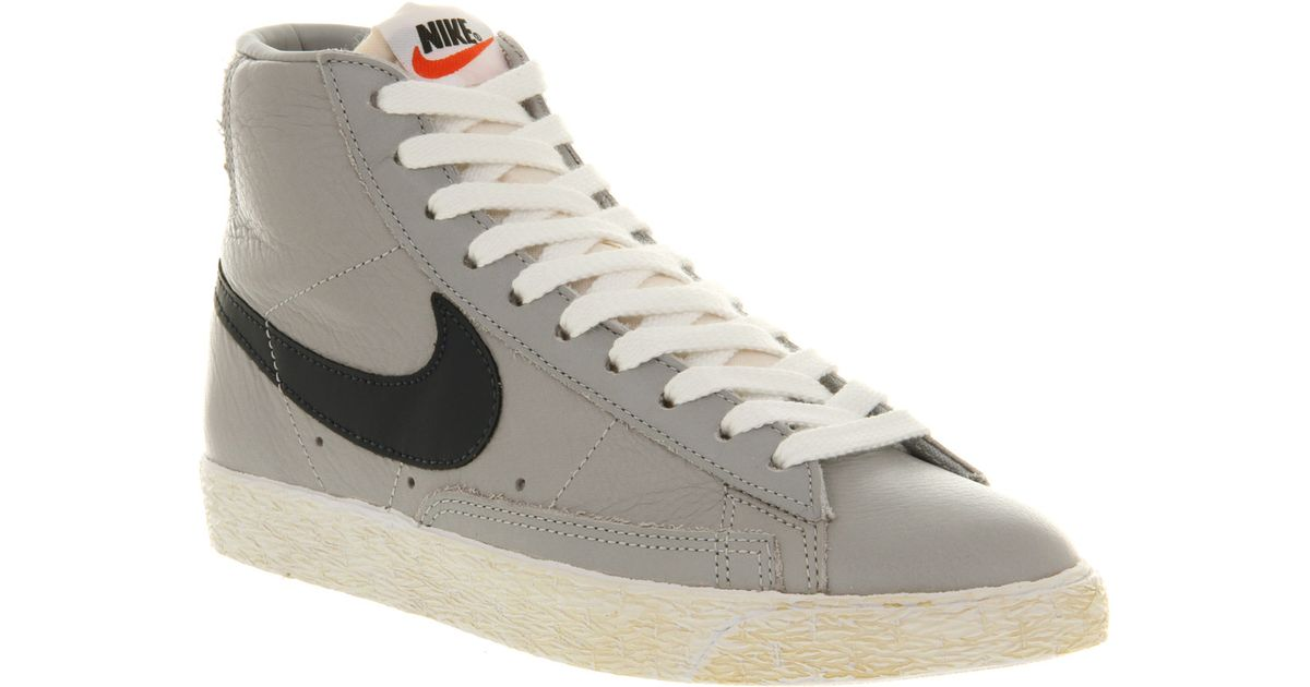 new products 3b904 175d1 ... sweden lyst nike blazer mid vintage leather wolf grey obsidian blue  exclusive in gray for men