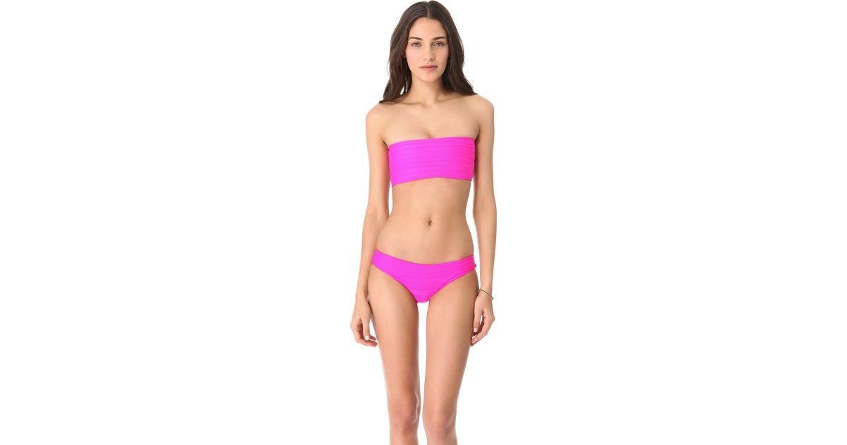 5666903f34 Lyst mikoh swimwear laniakea bandeau bikini top in pink jpeg 1200x630 Mikoh  swimwear laniakea