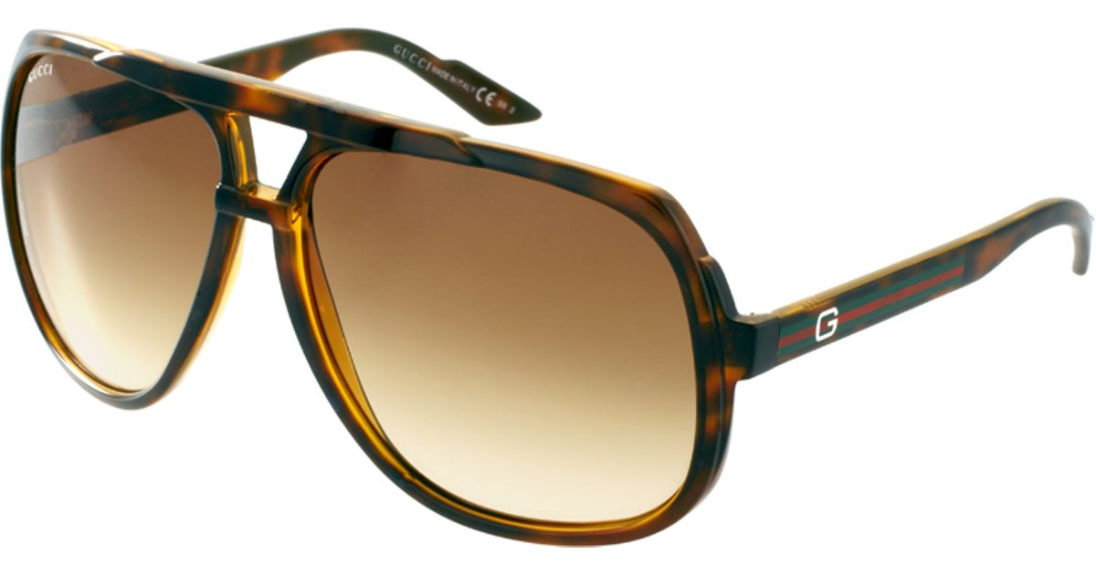 32c5b901f5a Lyst - Gucci Young Aviator Sunglasses in Brown for Men