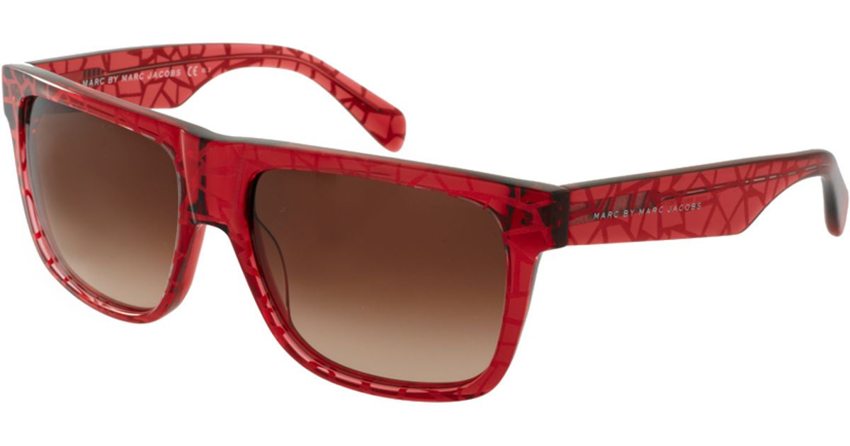 Marc Jacobs Red Sunglasses  marc by marc jacobs flat brow sunglasses in red for men lyst