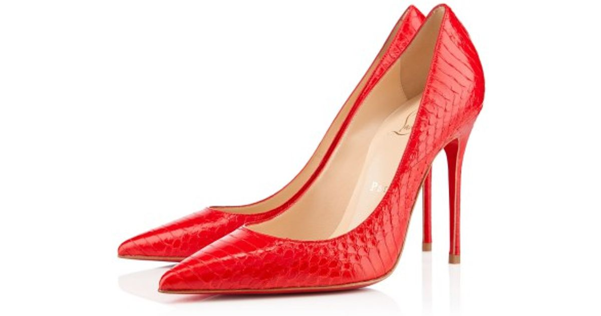 c56fe0993ff Lyst - Christian Louboutin Decollete 554 in Red