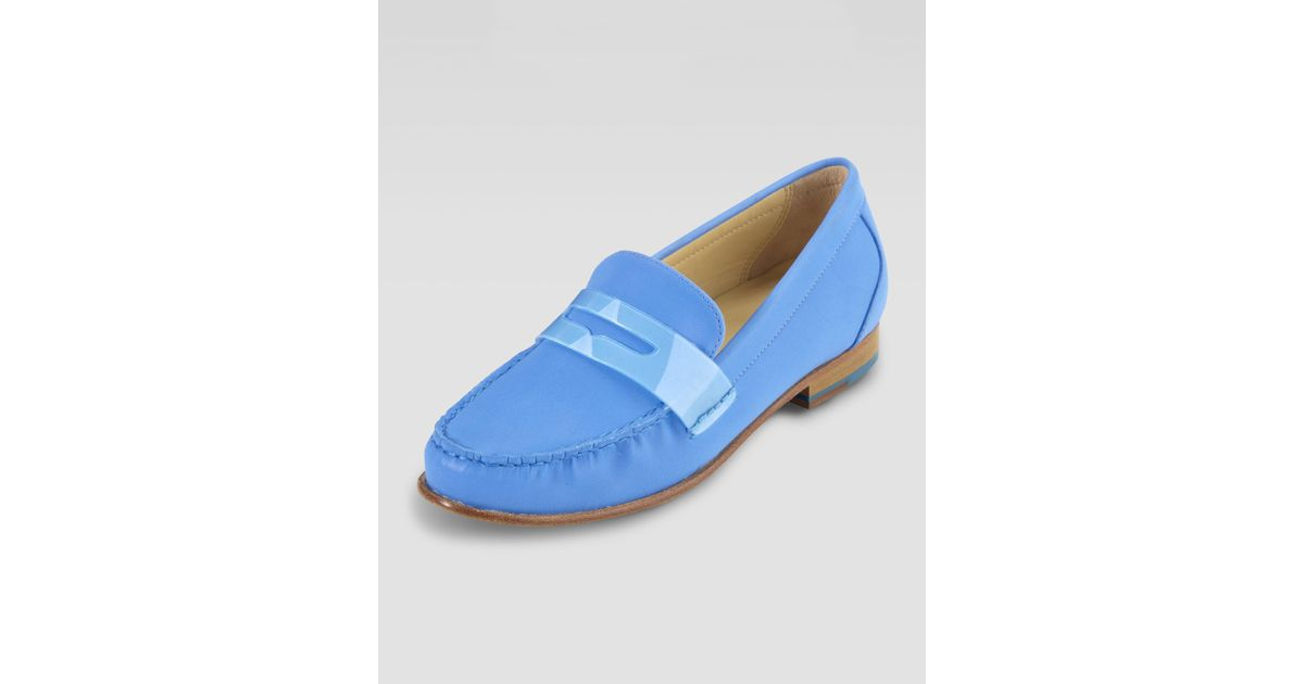 0afa6b1b1d7 Lyst - Cole Haan Womens Air Monroe Suede Penny Loafer Blue Topaz in Blue  for Men