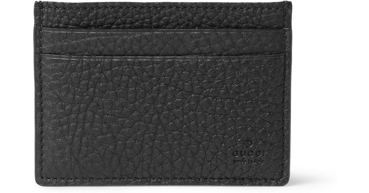 eeccdb97ca8 Lyst - Gucci Leather Card Holder in Black for Men