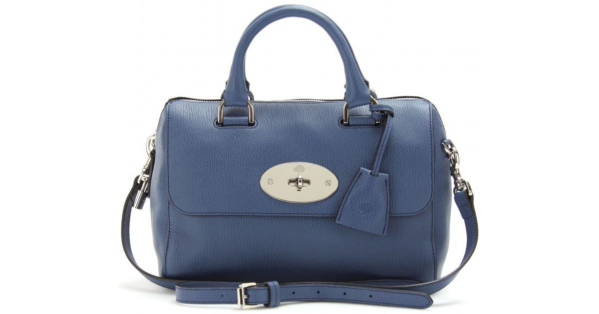 Lyst - Mulberry Small Del Rey Leather Shoulder Bag in Blue 665a3598cbb54