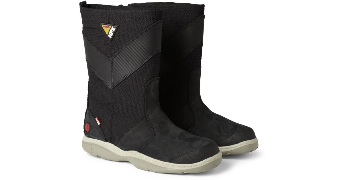 Lyst Musto Sailing Hpx Leather And Canvas Sailing Boots