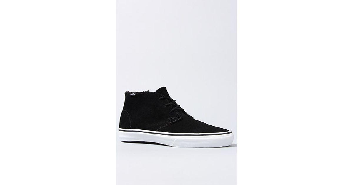 5e738794c4 Lyst - Vans The Chukka Decon Sneaker in Black Fleece Lining in Black for Men