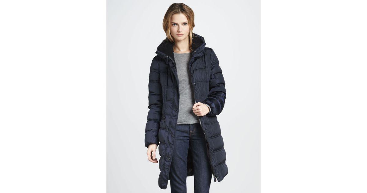 moncler vos three-quarter puffer coat