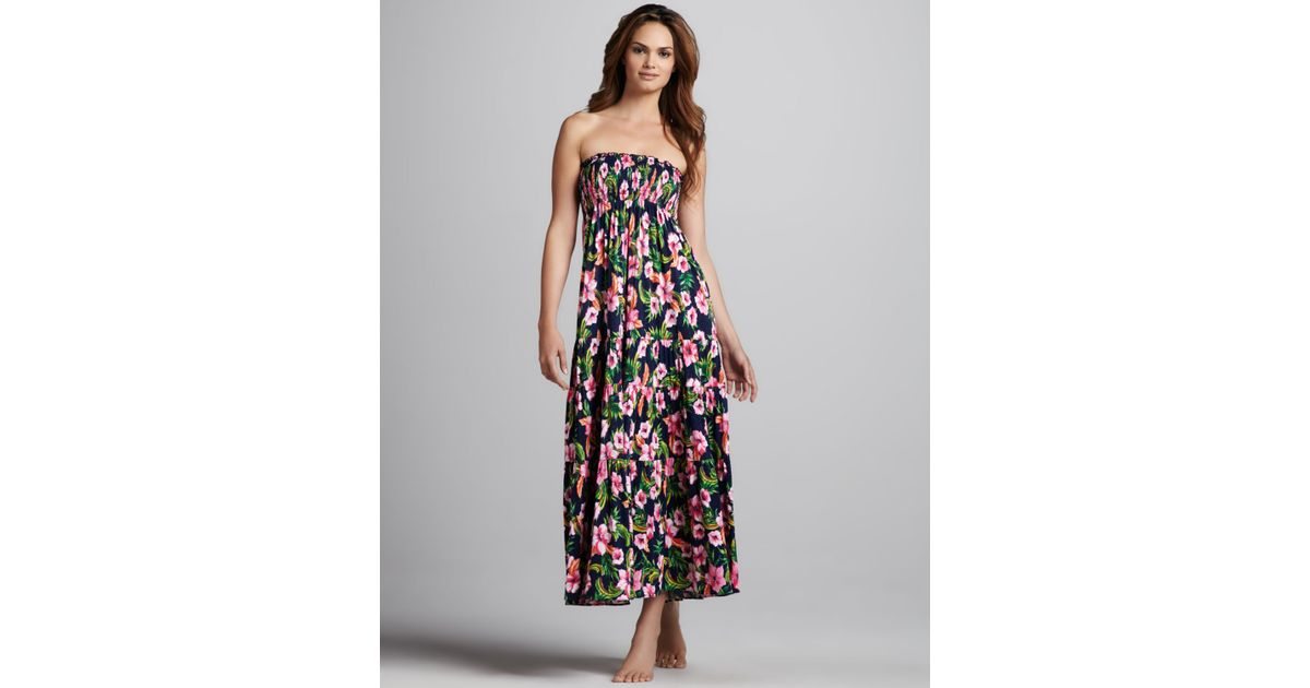 6b20163d31 Lyst - Juicy Couture Floralprint Maxi Dress