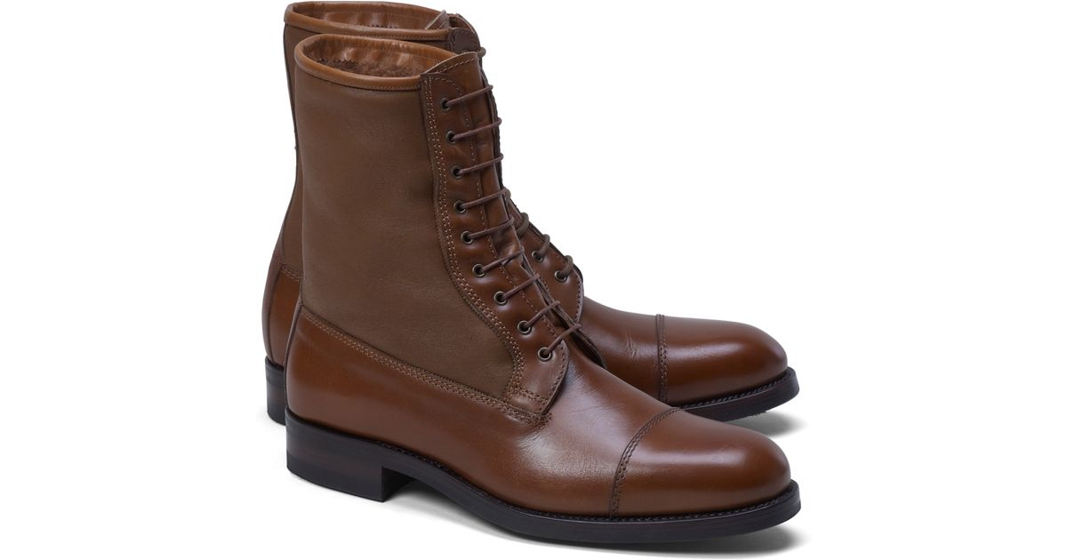 688b2118bb9 Lyst - Brooks Brothers Shearling Boot in Brown for Men