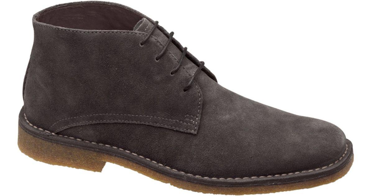 8c5e48099365 Lyst - Johnston   Murphy Rinchka Suede Desert Boots in Gray for Men