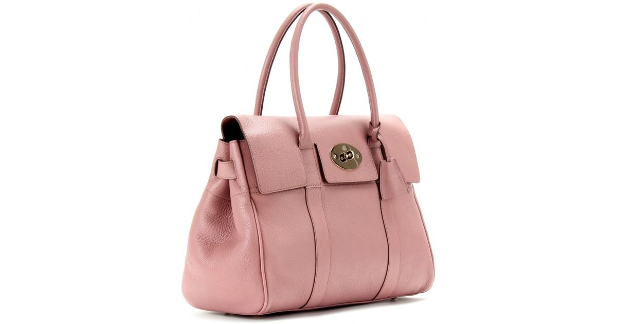 ... low price lyst mulberry bayswater leather tote in pink d9cf4 3ea3a 4db290f7f7875