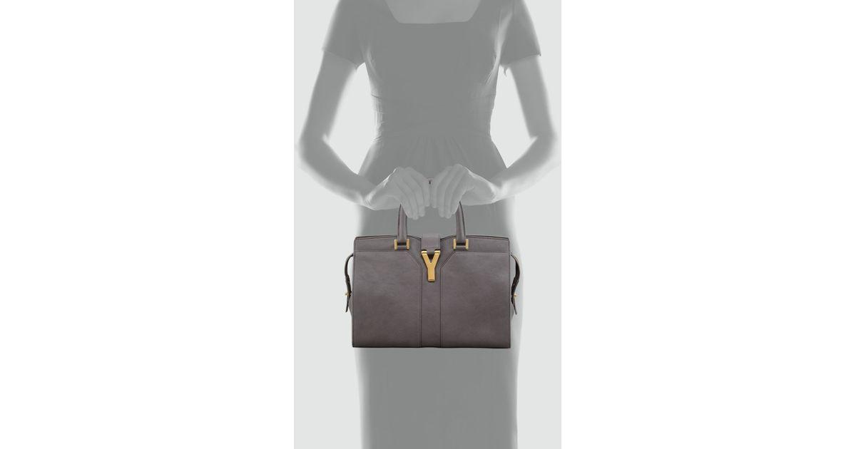 Saint laurent Chyc Mini Tote Bag in Gray (2034earth() | Lyst