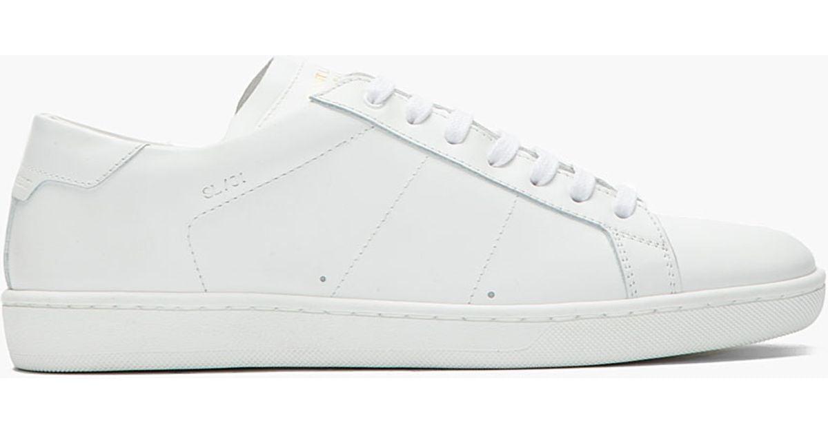 outlet best wholesale recommend Saint Laurent Leather Low-Top Sneakers 5m8reqT