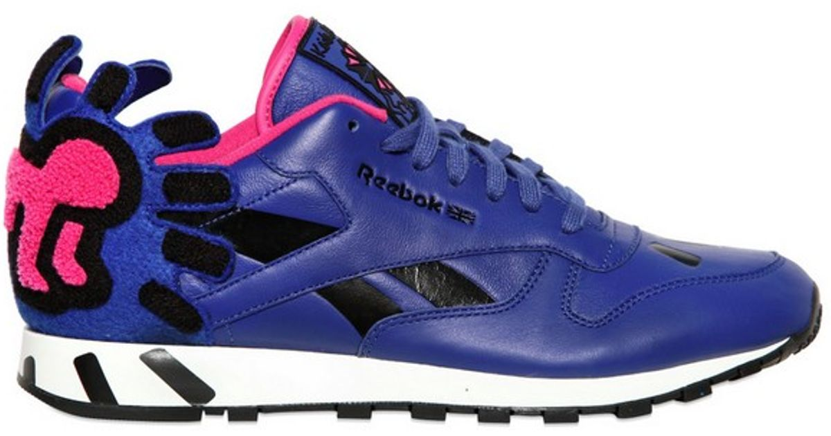 7921c4ef2ed Reebok Classic Leather Keith Haring Sneakers in Blue for Men - Lyst