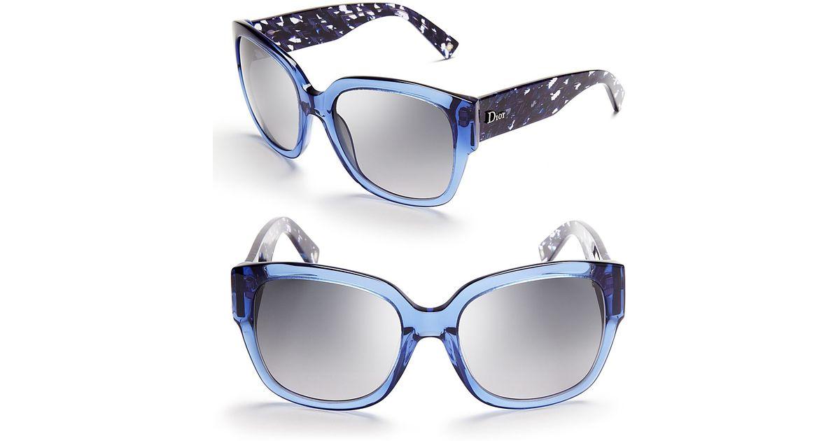 8fe6dd10b3787 Lyst - Dior Wayfarer Sunglasses in Blue
