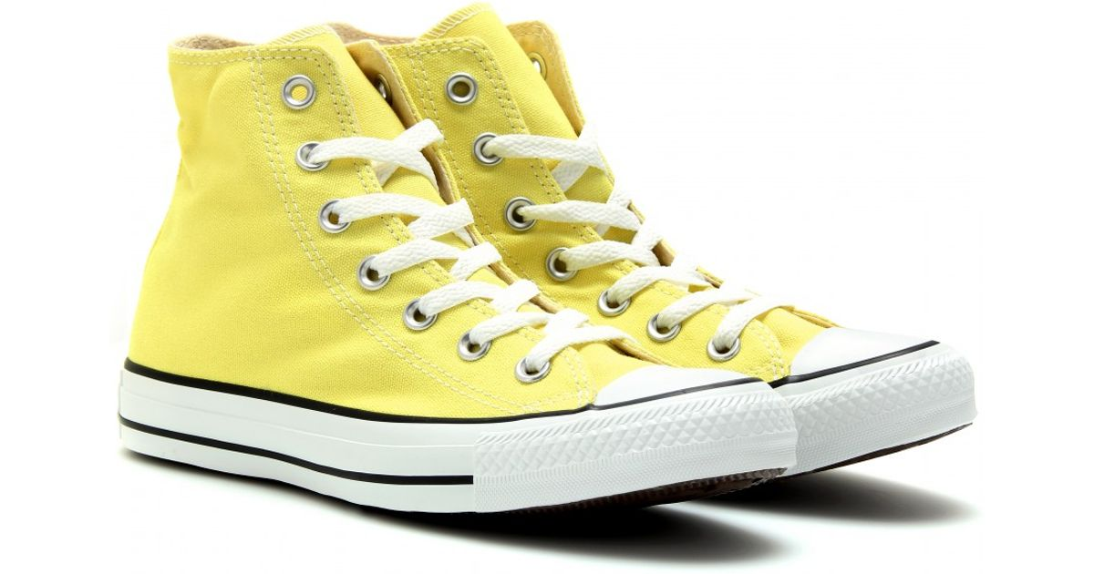 Lyst Converse Chuck Taylor All Star Hightops In Yellow