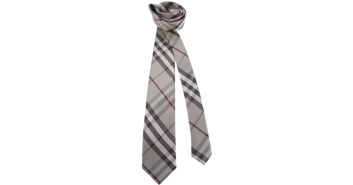 495bcb593f6a ... amazon lyst burberry nova check pointed tip tie in brown for men 8a4a8  f6f55
