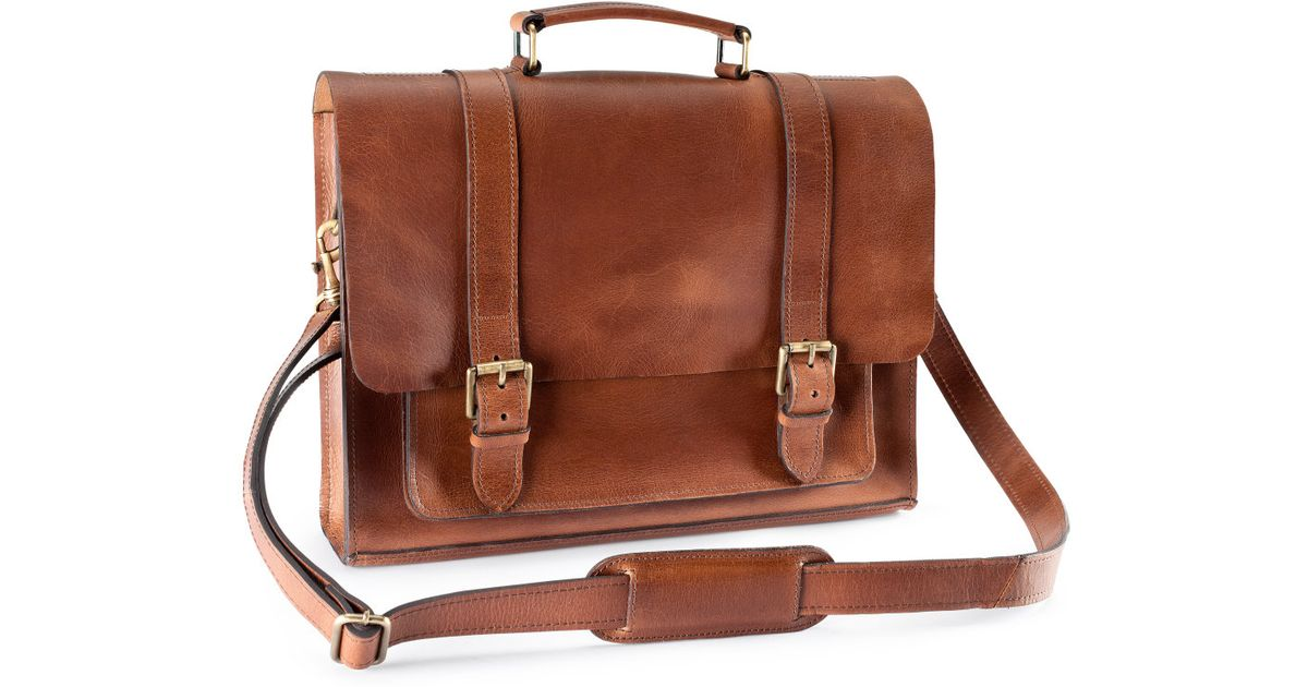 561fe63acb9d H M Leather Bag in Brown for Men - Lyst