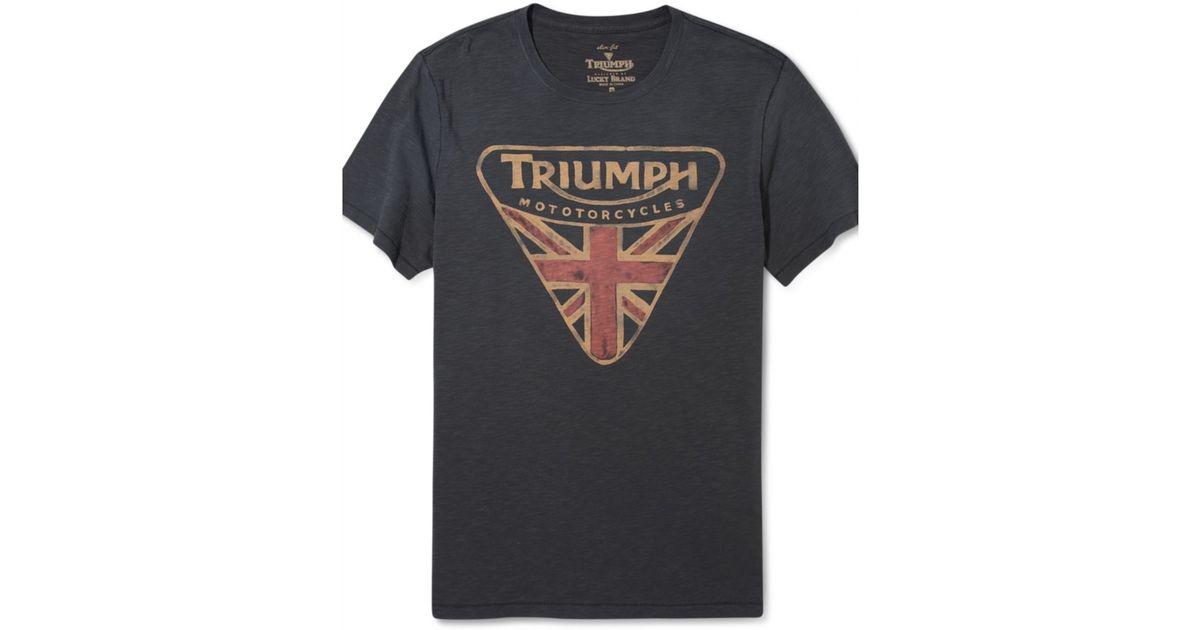 92c046e97 Lucky Brand Triumph Badge T Shirt in Black for Men - Lyst