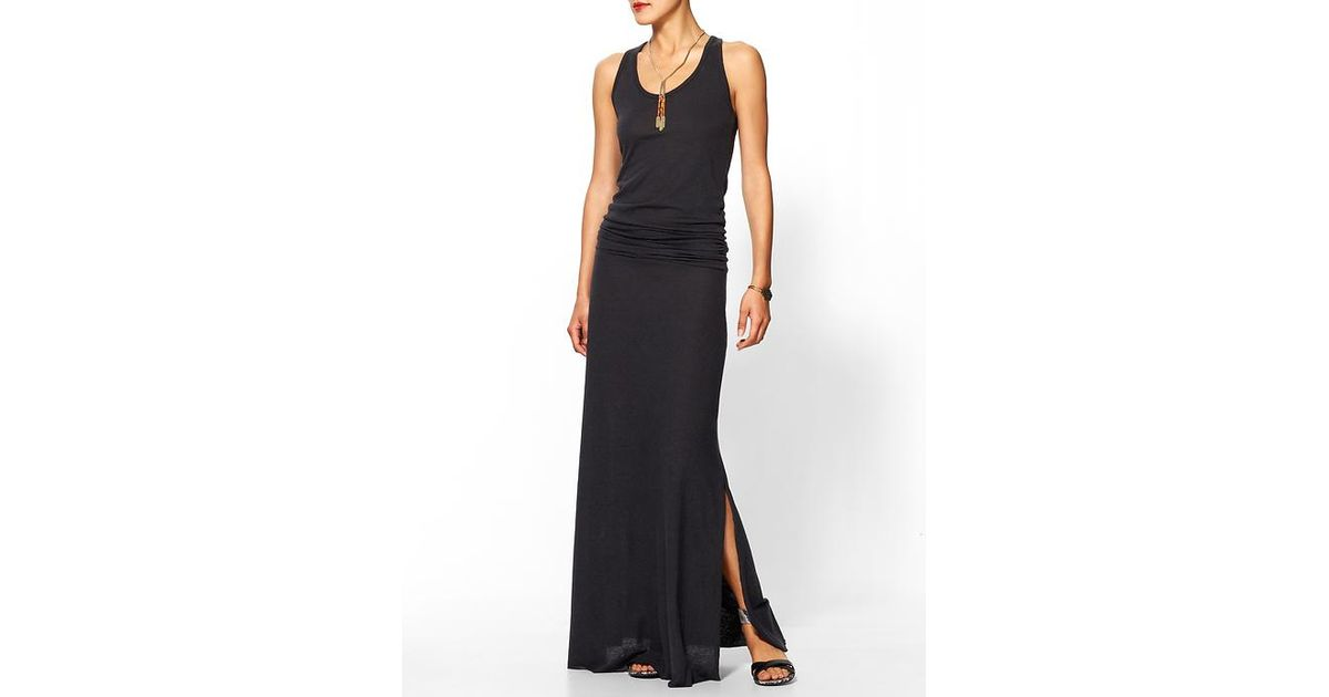 Alternative apparel go fish maxi dress in black eco true for Go fish clothing
