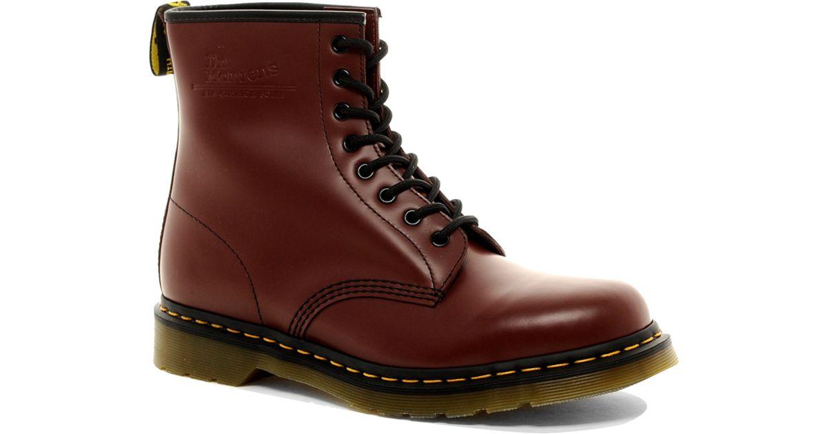 dr martens original 8 eye boots in red for men lyst. Black Bedroom Furniture Sets. Home Design Ideas