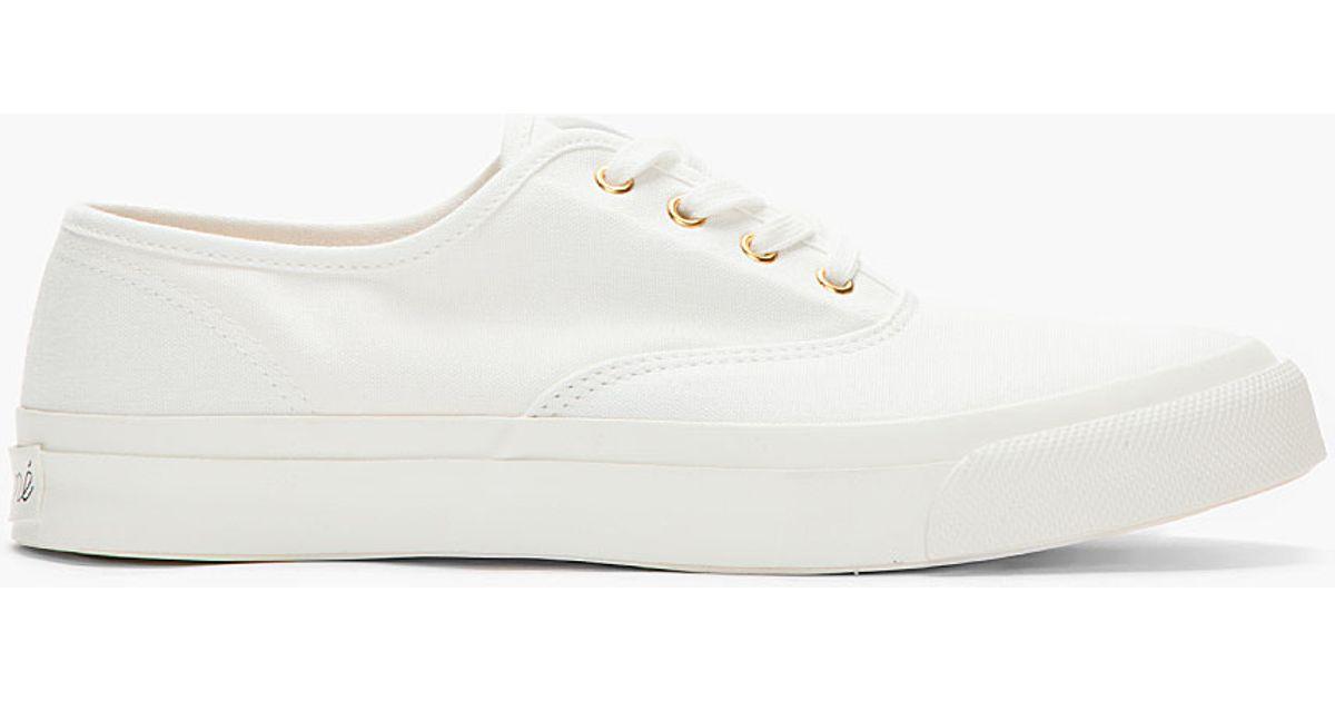 Canvas Slip-on Sneakers - BlackMaison Kitsuné o7vdVk68