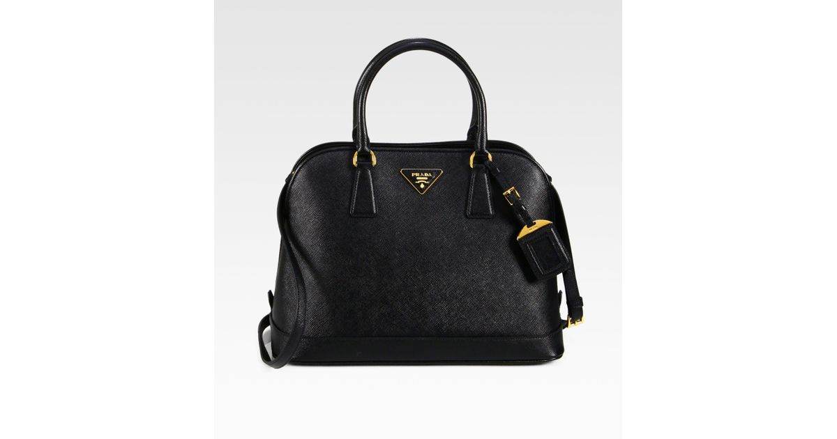 63dad23f3921e5 Prada Saffiano Promenade Open Top Handle Bag in Black - Lyst