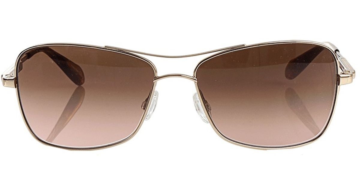 f950e59193 Lyst - Oliver Peoples Sanford 57 Sunglasses in Metallic for Men