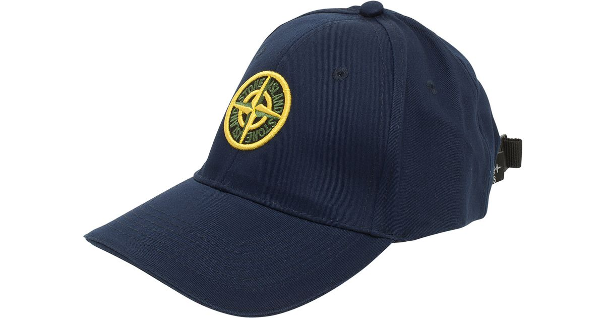 50c2354997e ... Lyst - Stone Island Standard Cap with Branding in Blue for M the latest  ac339 ffd6d ...