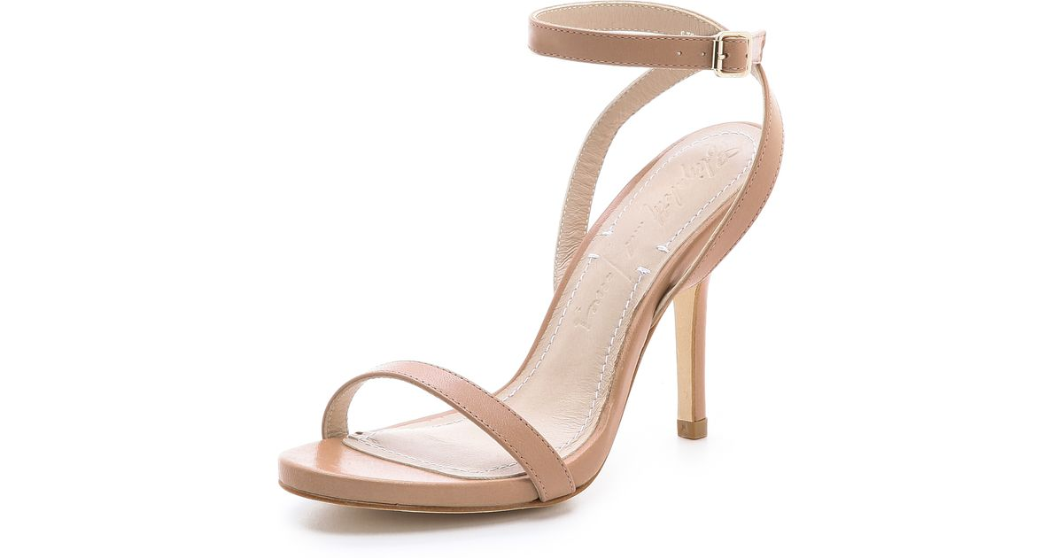 Elizabeth and james Toni Slim Strappy Sandals in Natural | Lyst