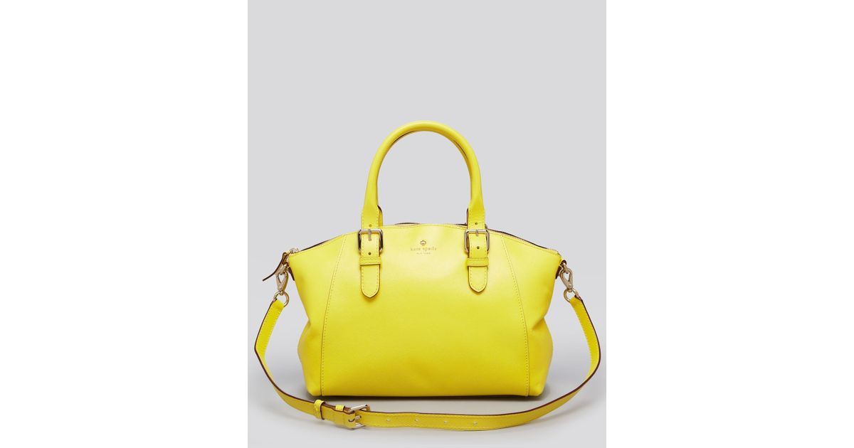 Lyst - Kate Spade Satchel Charlotte Street Small Sloan in Yellow b3e8ab8798ff0