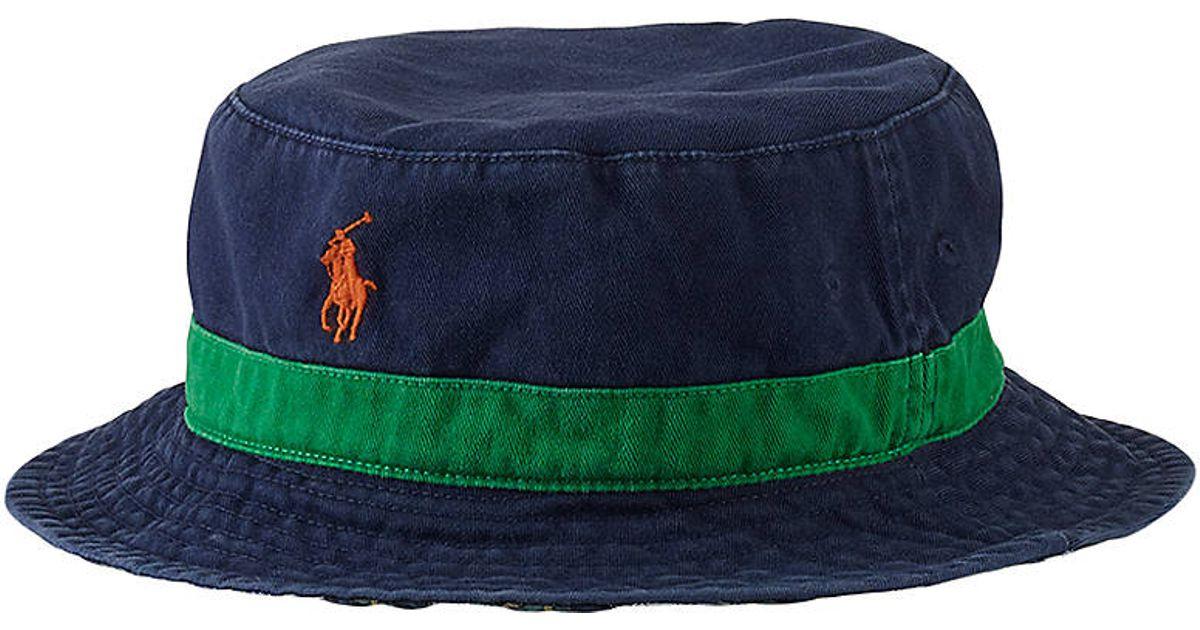 745f5f61791 Polo Ralph Lauren Reversible Beachside Bucket Hat in Blue for Men - Lyst