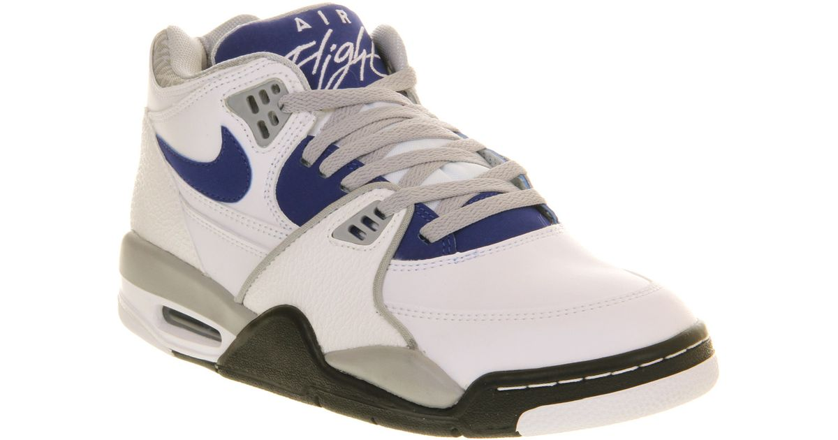 competitive price 3ee83 6eea1 ... canada lyst nike air flight 89 white hyper blue wolf grey black in blue  for men