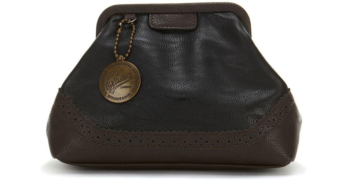 Topshop Amber Clutch Bag in Black - Lyst 161712eb97ff1
