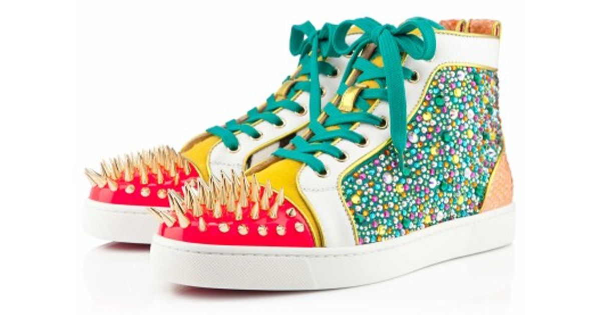 30fe5879f691 Christian Louboutin No Limit Mens Flat in Green for Men - Lyst