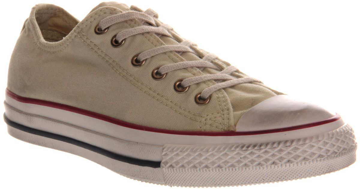 80235e860cd0 Lyst - Converse All Star Ox Low Well Worn Turtledove in Gray for Men