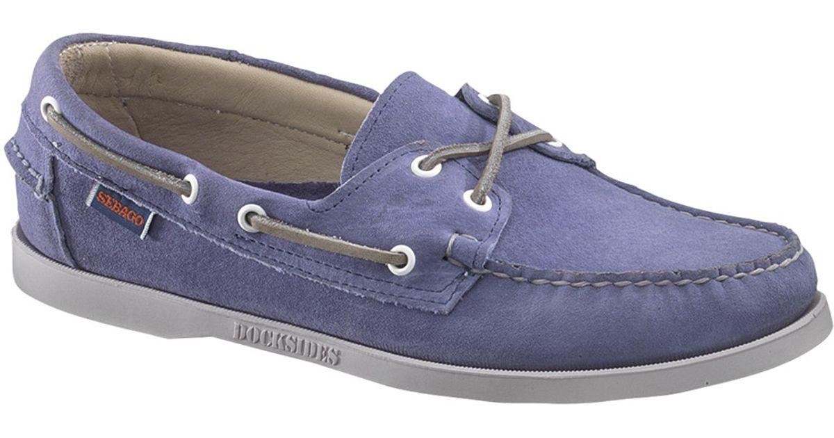 Sebago Dockside 2 Eyelets Leather Boat Shoes in Blue for Men - Lyst db361351caf