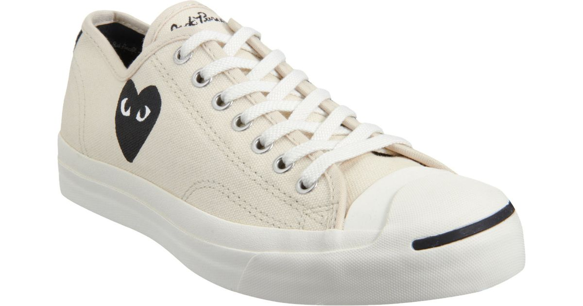 7284e11259c Play Comme des Garçons Jack Purcell Low Top in Natural for Men - Lyst