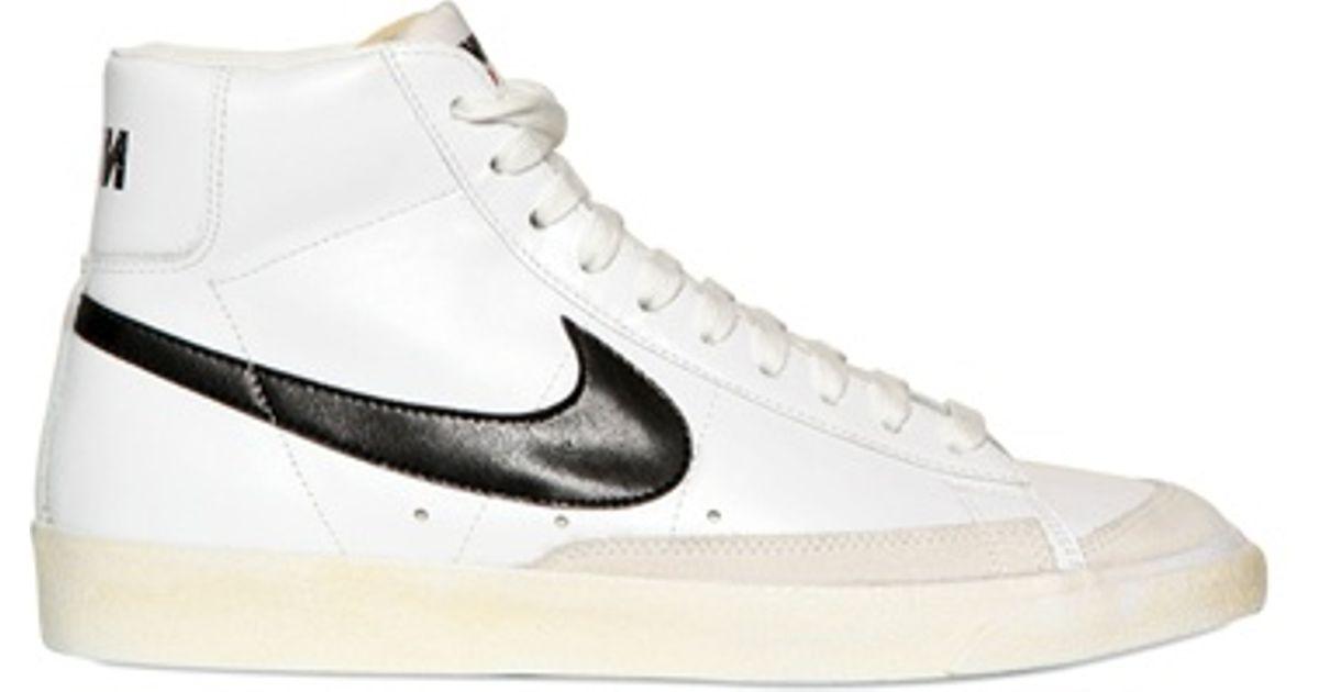e9896d546929 ... italy lyst nike blazer mid 77 premium vintage sneakers in white for men  e9f2e f7260